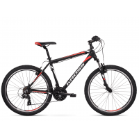 """KROSS MTB Horský bicykel HEXAGON 1.0 19"""" M 2020 - matný čierny / biely / červený"""
