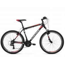 """KROSS MTB Horský bicykel HEXAGON 1.0 14"""" XS 2020 - matný čierny / biely / červený Preview"""