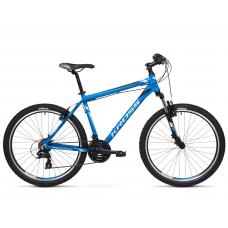 """KROSS MTB Horský bicykel HEXAGON 1.0 14"""" XS 2020 - matný modrý / strieborný / čierny Preview"""