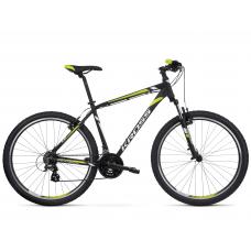 """KROSS MTB Horský bicykel HEXAGON 2.0 14"""" XS 2020 - matný čierny / biely / limetkový Preview"""