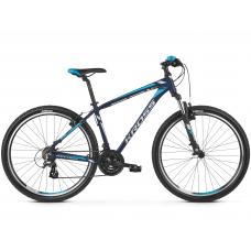 """KROSS MTB Horský bicykel HEXAGON 2.0 14"""" XS 2020 - matný tmavomodrý / strieborný / modrý Preview"""