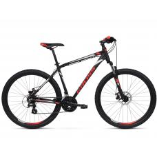 """KROSS MTB Horský bicykel HEXAGON 3.0 19"""" M 2021 - matný čierny / červený / strieborný Preview"""