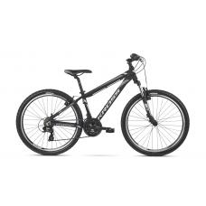 """KROSS MTB Horský bicykel HEXAGON 14"""" XS 2020 - lesklý čierny / biely / grafitovo šedý Preview"""