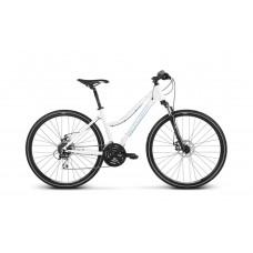 "KROSS Cross Dámsky bicykel Evado 4.0 17"" DL 2020 - lesklý biely"
