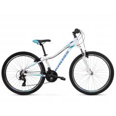 """KROSS MTB WOMAN Dámsky horský bicykel LEA 1.0 13"""" XXS - lesklý biely / modrý Preview"""