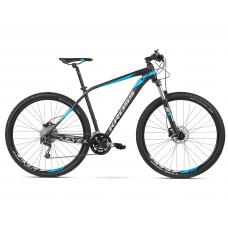 """KROSS Horský bicykel LEVEL 4.0 17"""" S 2020 - matný čierny / modrý / strieborný Preview"""