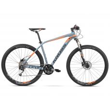 """KROSS Horský bicykel LEVEL 4.0 17"""" S 2020 - lesklý sivý / oranžový Preview"""