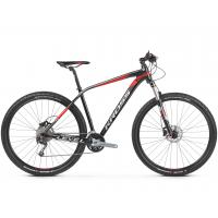 """KROSS Horský bicykel LEVEL 5.0 17"""" S 2020 - lesklý čierny / červený / strieborný"""