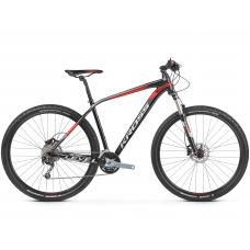 """KROSS Horský bicykel LEVEL 5.0 17"""" S 2020 - lesklý čierny / červený / strieborný Preview"""