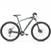 """KROSS Horský bicykel LEVEL 5.0 21"""" L 2020 - matný grafitovo šedý / oceľovo modrý / čierny"""