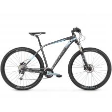 """KROSS Horský bicykel LEVEL 5.0 17"""" S 2020 - matný grafitovo šedý / oceľovo modrý / čierny Preview"""