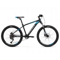 """KROSS  Junior Detský bicykel Level Jr 3.0 14"""" 2020 - matný čierny / modrý / strieborný"""