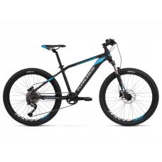 """KROSS  Junior Detský bicykel Level Jr 3.0 14"""" 2020 - matný čierny / modrý / strieborný Preview"""