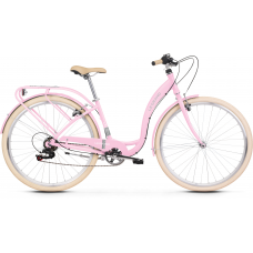 "Dámsky mestský bicykel Lille 2 19"" L 2022 LE GRAND Utility - lesklý ružový / sivý Preview"