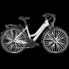 "KROSS Trekking Dámsky bicykel Trans 1.0 SR 21"" L 2020 - biely/sivý"