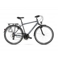 """KROSS Trekking Pánsky bicykel Trans 3.0 SR 21"""" L 2020 - grativovosivý/čierny"""