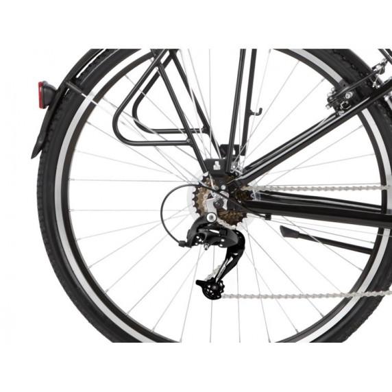 """KROSS Trekking Dámsky bicykel Trans 1.0 19"""" DL 2021 - lesklý čierny/sivý"""
