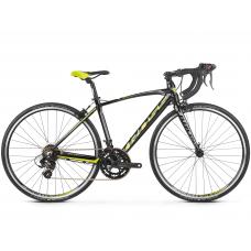 """KROSS  Junior Detský bicykel Vento Jr 2.0 16"""" 2020 - lesklý čierny / limetkový / grafitovo šedý Preview"""