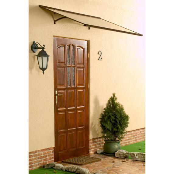 LANITPLAST strieška nad dvere MELES 120/85 - Hnedá