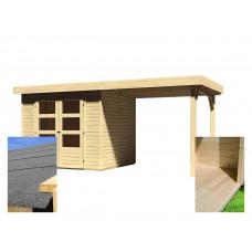 Drevený domček KARIBU ASKOLA 3 + prístavok 240 cm (14441) SET Preview