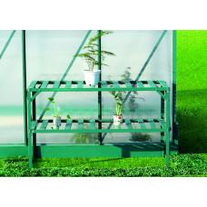 LANITPLAST AL regál dvojpolicový 126x50 cm - Zelený Preview