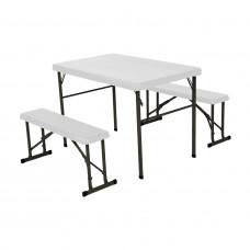 Campingový stôl a 2x lavica LIFETIME 80353 / 80352 Preview