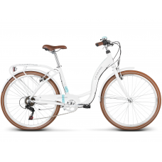 "Dámsky mestský bicykel Lille 1 17"" M 2022 LE GRAND Utility - lesklý biely Preview"