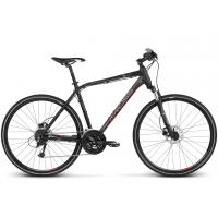 """KROSS Cross Pánsky bicykel Evado 5.0 17"""" 2020 - matný čierny / červený"""