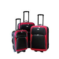 Linder Exclusiv EVA 2 cestovné kufre MC3029 S,M,L - Červeno/čierný
