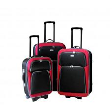 Linder Exclusiv EVA 2 cestovné kufre MC3029 S,M,L - Červeno/čierný Preview