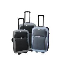 Linder Exclusiv EVA 2 cestovné kufre MC3029 S,M,L - Sivo/čierny