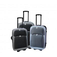 Linder Exclusiv EVA 2 cestovné kufre MC3029 S,M,L - Antracit/červený Preview