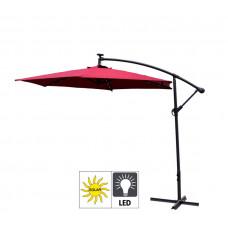 Záhradný slnečník konzolový LINDER EXCLUSIV 300 cm LED MC2006 Led Burgundy Preview