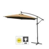 AGA záhradný konzolový slnečník EXCLUSIV LED 300 cm Coffee
