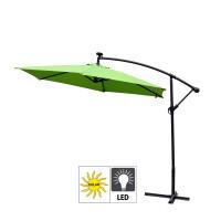 AGA záhradný konzolový slnečník EXCLUSIV LED 300 cm Apple Green