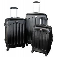 Linder Exclusiv LUXURY MC3003 Cestovné kufre S,M,L - čierne