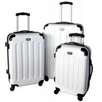 Linder Exclusiv LUXURY MC3053 Cestovné kufre S,M,L - biele