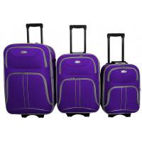 Linder Exclusiv COMFORT COLORS cestovné kufre MC3050 S,M,L - Fialový