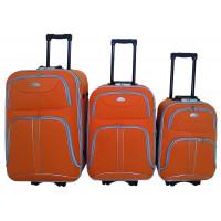 Linder Exclusiv COMFORT COLORS cestovné kufre MC3049 S,M,L - Oranžový