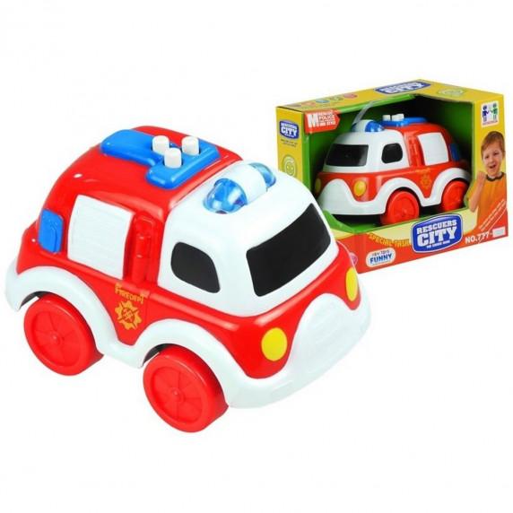 Malé hasičské auto so zvukovými a svetelnými efektmi Inlea4Fun RESCUERS CITY