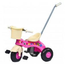Detská trojkolka s vodiacou tyčou Inlea4Fun Junior - ružová Preview