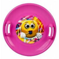 Inlea4Fun veľký tanier na sneh 60 cm ružový
