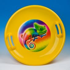 Inlea4Fun veľký tanier na sneh 60 cm žltý Preview