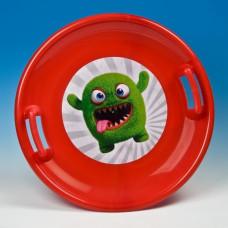 Inlea4Fun veľký tanier na sneh 60 cm červený Preview