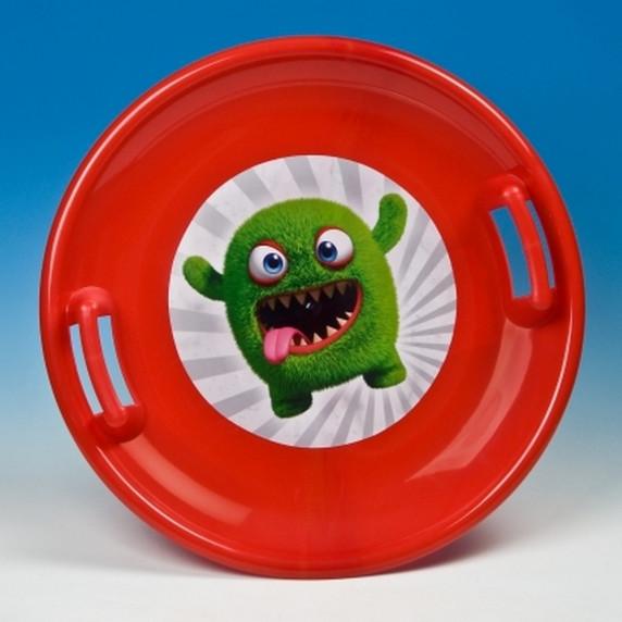 Inlea4Fun veľký tanier na sneh 60 cm červený
