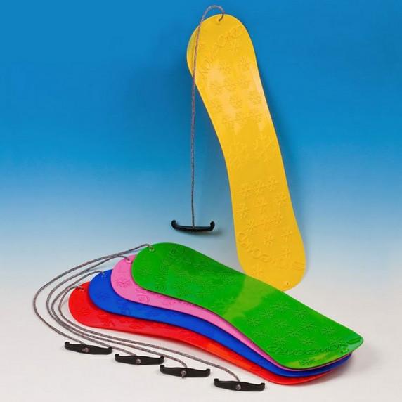 Inlea4Fun detský plastový snowboard ružový