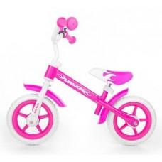 "Detské cykloodrážadlo Milly Mally Dragon s brzdou 10"" - pink Preview"