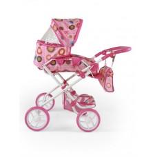 Kombinovaný kočík pre bábiky Milly Mally Paulína ružovo-hnedý Preview