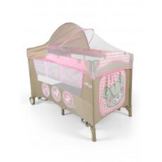 Cestovná postieľka Milly Mally Mirage Deluxe pink toys Preview