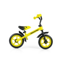 "Detské cykloodrážadlo Milly Mally Dragon 10"" - žlté"